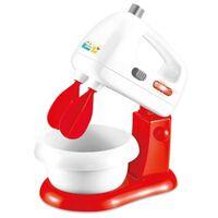 speelgoedmixer licht en geluid 20 cm rood/wit