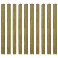 vidaXL Schuttinglatten 10 st 120 cm geïmpregneerd hout