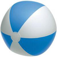 Opblaasbare speelgoed strandbal blauw/wit 28 cm - Strandballen -
