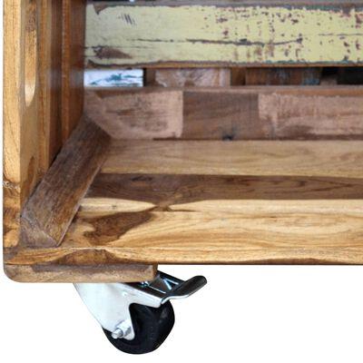 vidaXL Salontafel 70x70x35 cm massief gerecycled hout