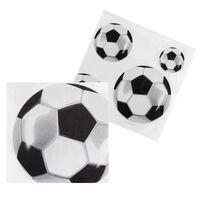 Boland servetten voetbal 33 cm zwart/wit 12 stuks