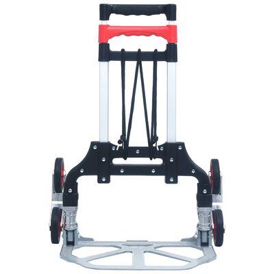 vidaXL Traptrolley inklapbaar 70 kg aluminium zilverkleurig