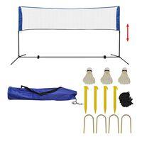 vidaXL Badminton net met shuttles 300x155 cm
