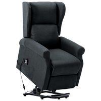vidaXL Sta-op-stoel stof donkergrijs