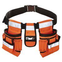 Toolpack Gereedschapsriem met hoge zichtbaarheid Sash oranje en zwart