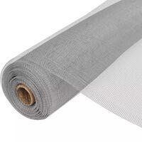 vidaXL Gaas 100x1000 cm aluminium zilverkleurig
