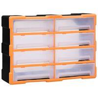 vidaXL Organiser met 8 grote lades 52x16x37 cm