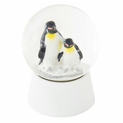 Sneeuwbol | Ø 5*6 cm | Wit | Polyresin / glas | rond | pinquins |