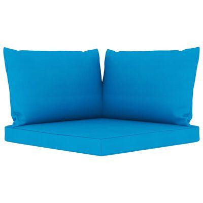 vidaXL 12-delige Loungeset met lichtblauwe kussens