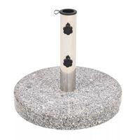 vidaXL Parasolvoet rond 22 kg graniet