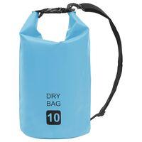 vidaXL Drybag 10 L PVC blauw