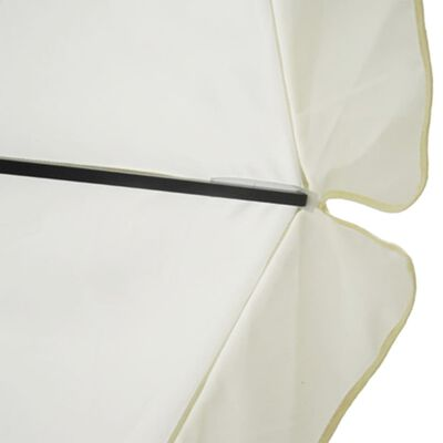 vidaXL Parasol Samos 500 cm aluminium wit
