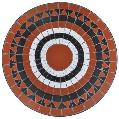 vidaXL Bistrotafel 60 cm mozaïek terracottakleurig en wit