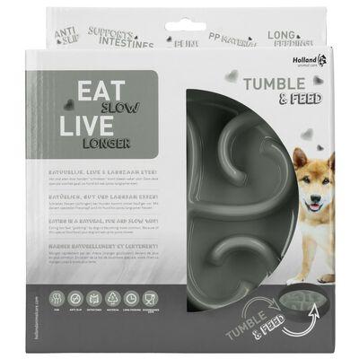 EAT SLOW LE LONGER Slowfeeder Tumble grijs