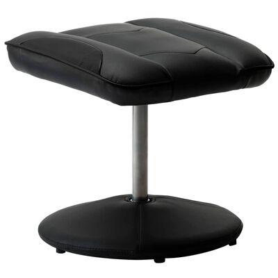 vidaXL Racestoel verstelbaar met voetenbankje kunstleer zwart