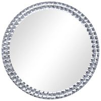 vidaXL Wandspiegel 70 cm gehard glas zilverkleurig