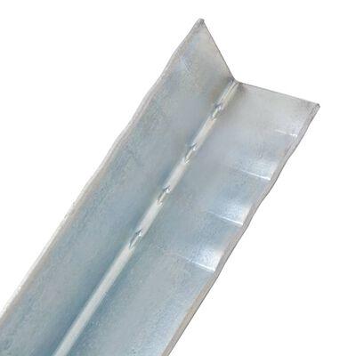 vidaXL Grondanker L-vormig 5x5x50 cm gegalvaniseerd staal 12 st