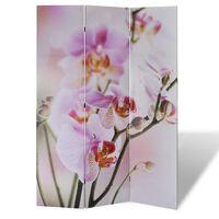 vidaXL Kamerscherm inklapbaar bloem 120x170 cm