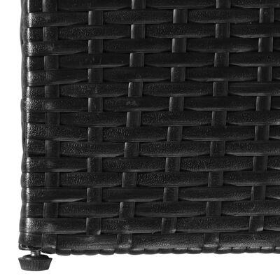 vidaXL Tuinbox 150x100x100 cm poly rattan zwart