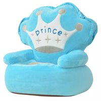 vidaXL Kinderstoel prins pluche blauw