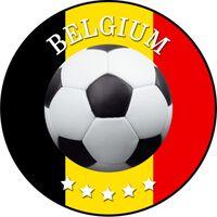 Belgie voetbal onderzetters/bierviltjes - 25 stuks - Belgie voetbal