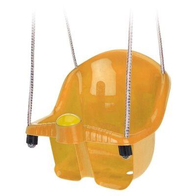 Oranje peuterschommel met touw -