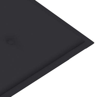 vidaXL Tuinbank met antracietkleurig kussen 120 cm massief teakhout