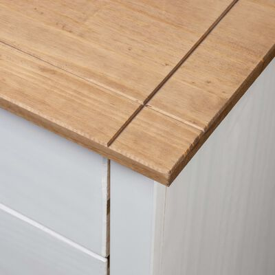 vidaXL Nachtkastje Panama Range 46x40x57 cm grenenhout wit