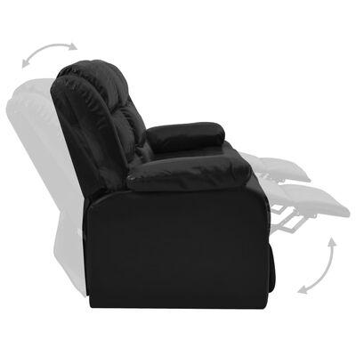 vidaXL 2-delig Bankstel verstelbaar kunstleer zwart