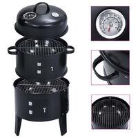 vidaXL Houtskoolroker barbecue-grill 3-in-1 40x80 cm
