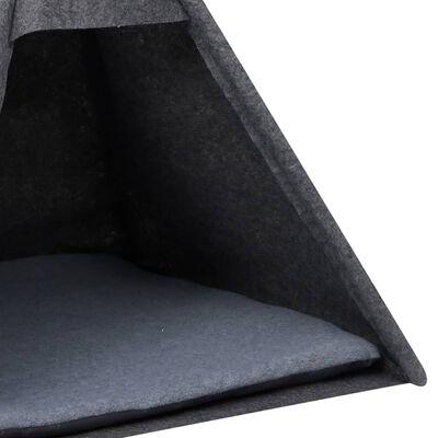 vidaXL Kattentipitent met tas 60x60x70 cm vilt zwart
