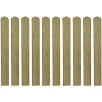 vidaXL 30 st Heklatten 80 cm geïmpregneerd hout