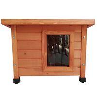 @Pet Kattenhok voor buiten hout bruin