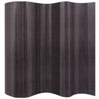 vidaXL Kamerscherm 250x165 cm bamboe grijs