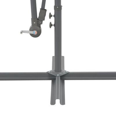 vidaXL Zweefparasol met aluminium paal 350 cm taupe
