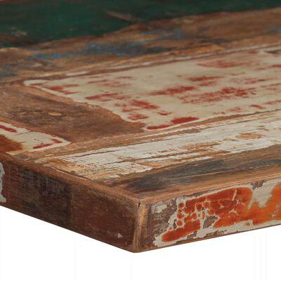 vidaXL Bartafel 60x60x107 cm massief gerecycled hout meerkleurig