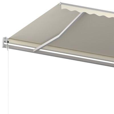 vidaXL Luifel automatisch uittrekbaar 500x350 cm crèmekleurig