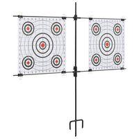 vidaXL Targetkaartstandaard met schietkaarten 78x76 cm staal