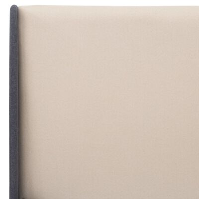 vidaXL Bedframe stof crème 140x200 cm