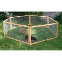 Kerbl Buitenren voor huisdieren Vario hout bruin 84399