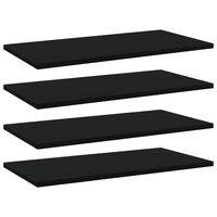 vidaXL Wandschappen 4 st 60x30x1,5 cm spaanplaat zwart