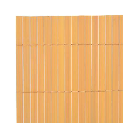 vidaXL Tuinafscheiding dubbelzijdig 170x300 cm geel
