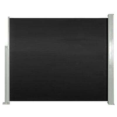 vidaXL Windscherm uittrekbaar 120x300 cm zwart