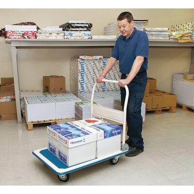 Draper Tools Platformwagen inklapbaar handvat 90x60x85 cm blauw wit