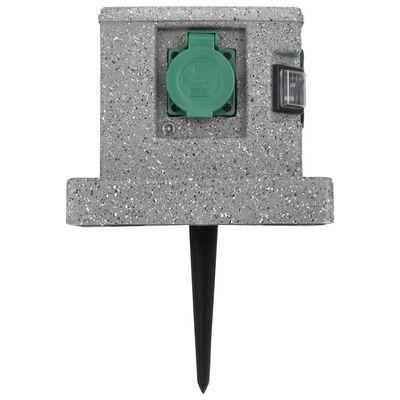 vidaXL Buitenstopcontact met schemeringssensor kunststof
