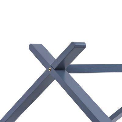 vidaXL Kinderbedframe massief grenenhout grijs 80x160 cm