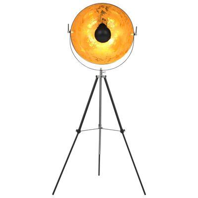vidaXL Lamp staand E27 51 cm zwart en goud