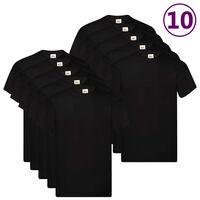 Fruit of the Loom T-shirts Original 10 st L katoen zwart