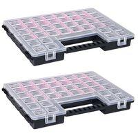 vidaXL Assortimentsdozen 2 st met verdelers 385x283x50 mm kunststof