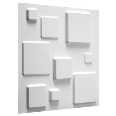 WallArt 3D Wandpanelen Squares 12 stuks GA-WA09